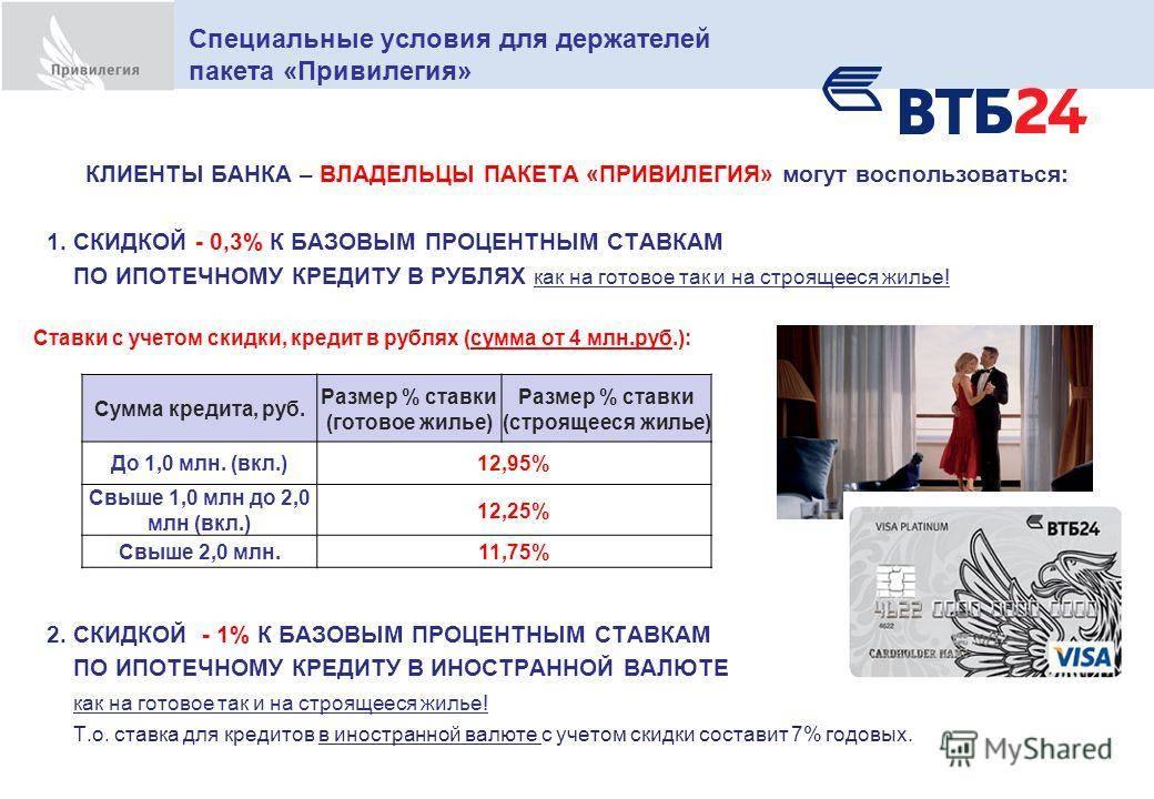 Реструктуризация и перекредитование ипотеки в втб 24