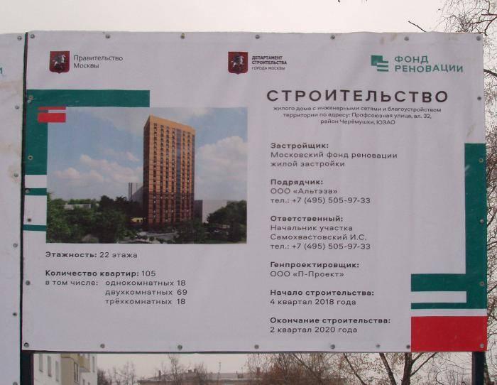 Программа реновации жилого фонда в москве. досье