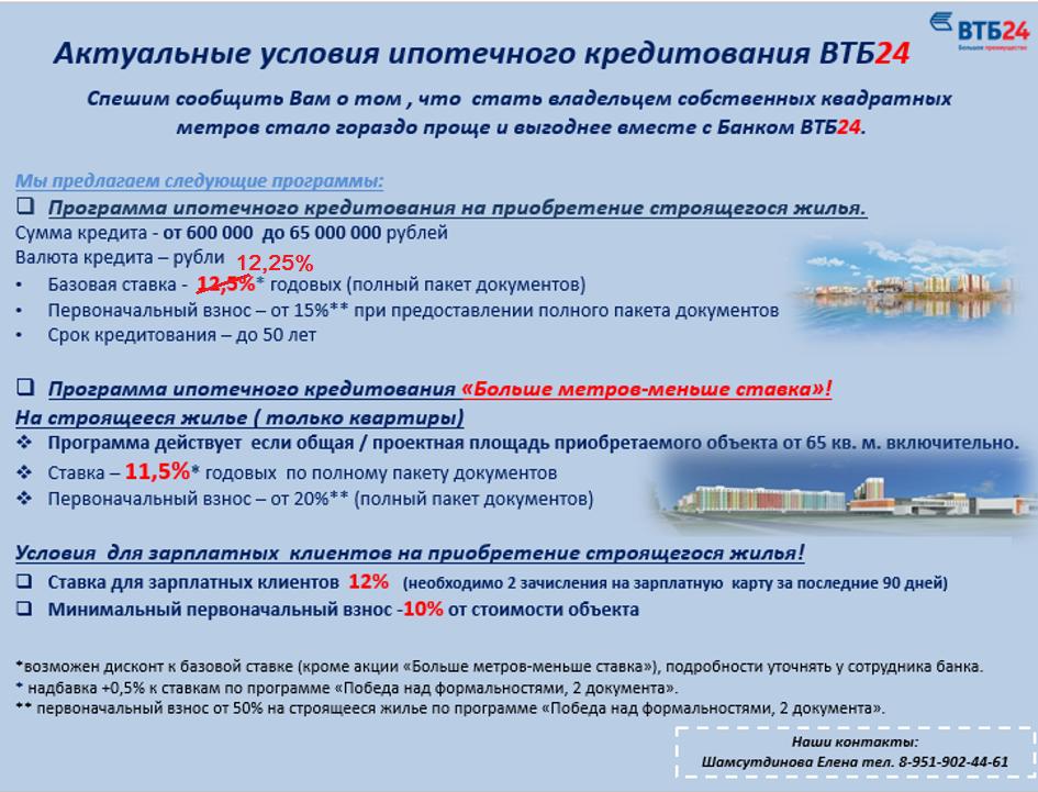 Условия и подводные камни ипотечного договора втб 24