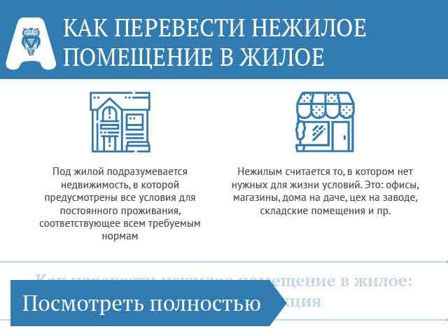 Перевод жилого помещения в нежилое в 2020 году: новые правила — новости в т—ж
